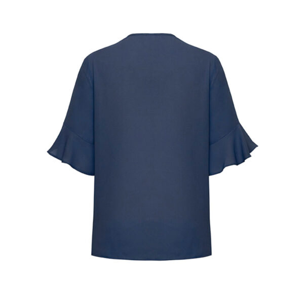 Aria Fluted Sleeve Blouse - Back